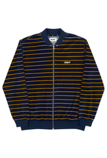 PALACE PALACE VELOUR BOMBER NAVY/YELLOW DS -SMALL