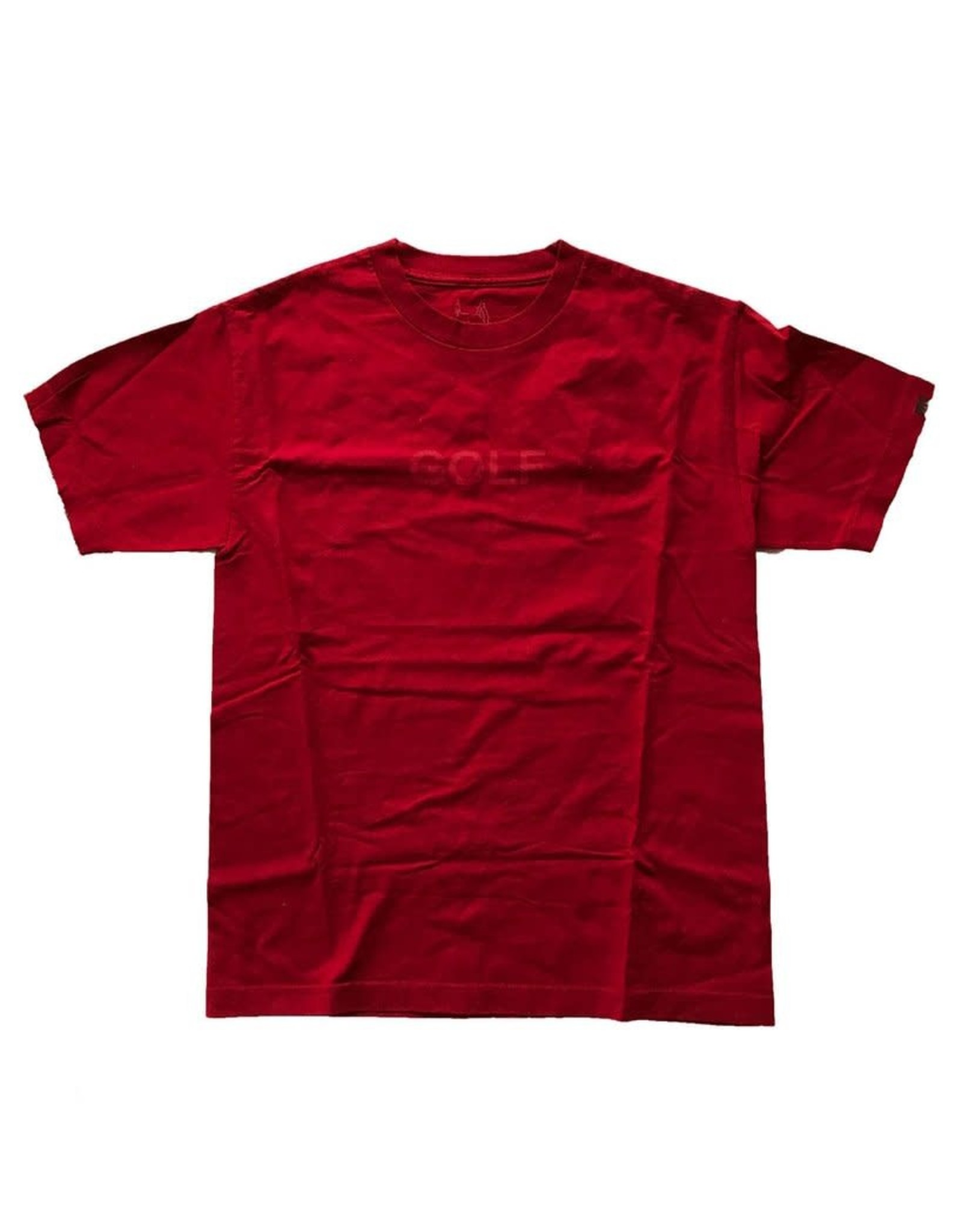 GOLF RED TEE WORN L