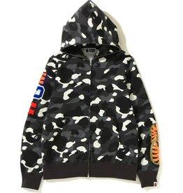 BAPE City Camo Embroidery Shark Full Zip Hoodie Black-XL DS