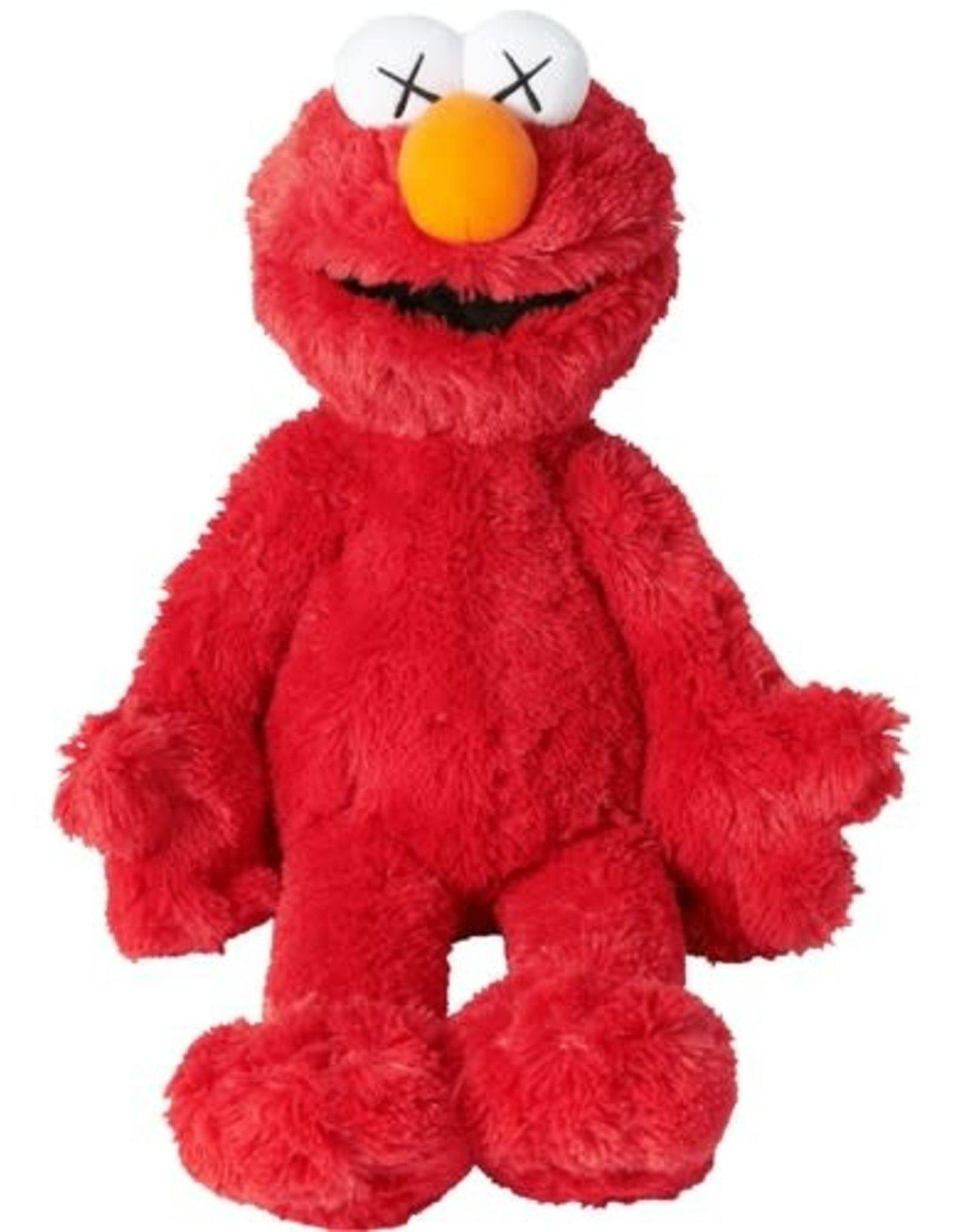 DOUSED-KAWS Sesame Street Uniqlo Elmo Plush Toy RED