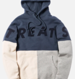 KITH TREATS HOODIE LARGE WORN NVY/GRY