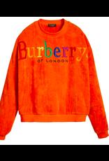 BURBERRY RAINBOW SPELL OUT LOGO TOWELING CREWNECK SWEATSHIRT LARGE