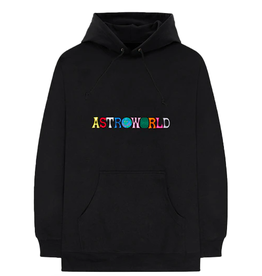 TRAVIS SCOTT Travis Scott Astroworld Logo Hoodie Black WORN SMALL