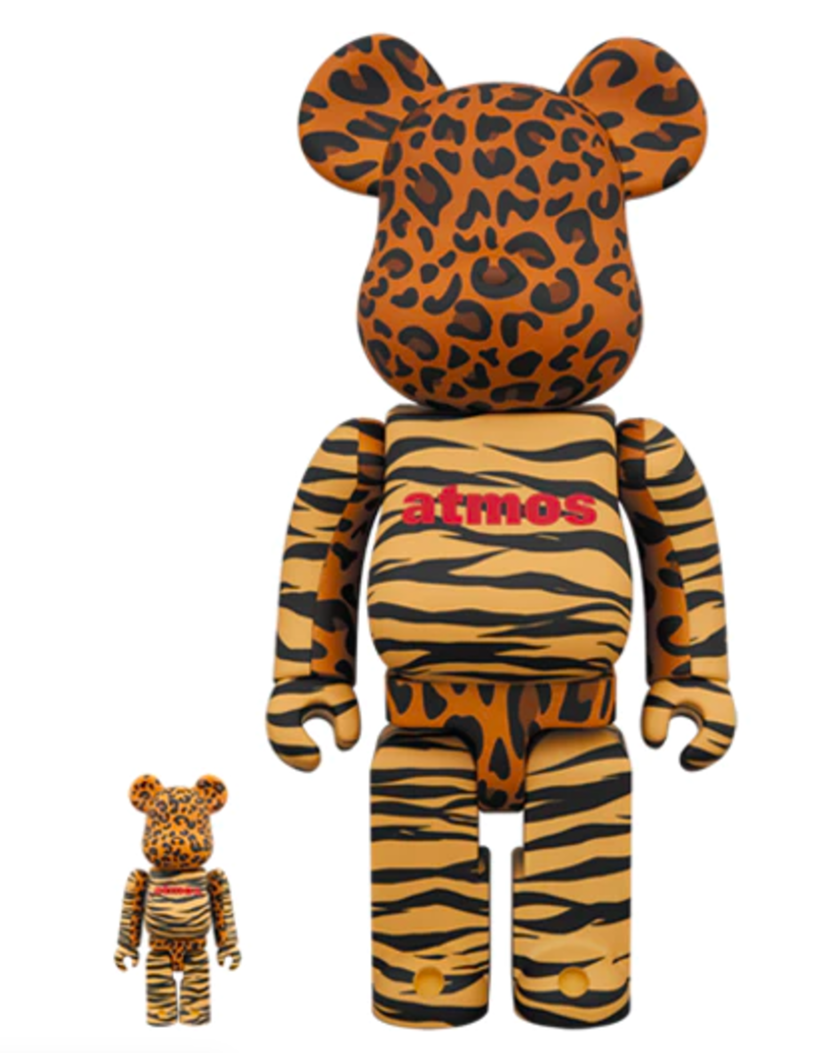Bearbrick Atmos Animal 100% & 400% Set Orange