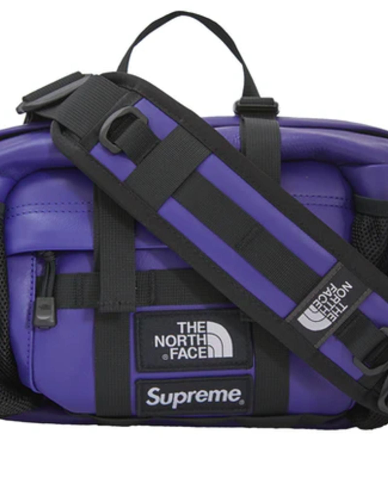 SUPREME Supreme The North Face Leather Mountain Waist Bag Royal WORN