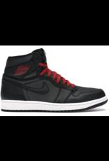 JORDAN Jordan 1 Retro High Black Satin Gym Red