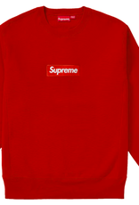 SUPREME Supreme Box Logo Crewneck (FW18) Rust WORN