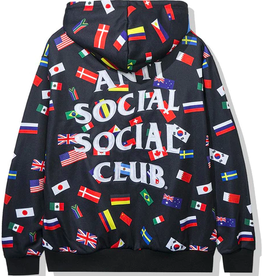 ASSC Orlando All Over Flag Hoodie Black