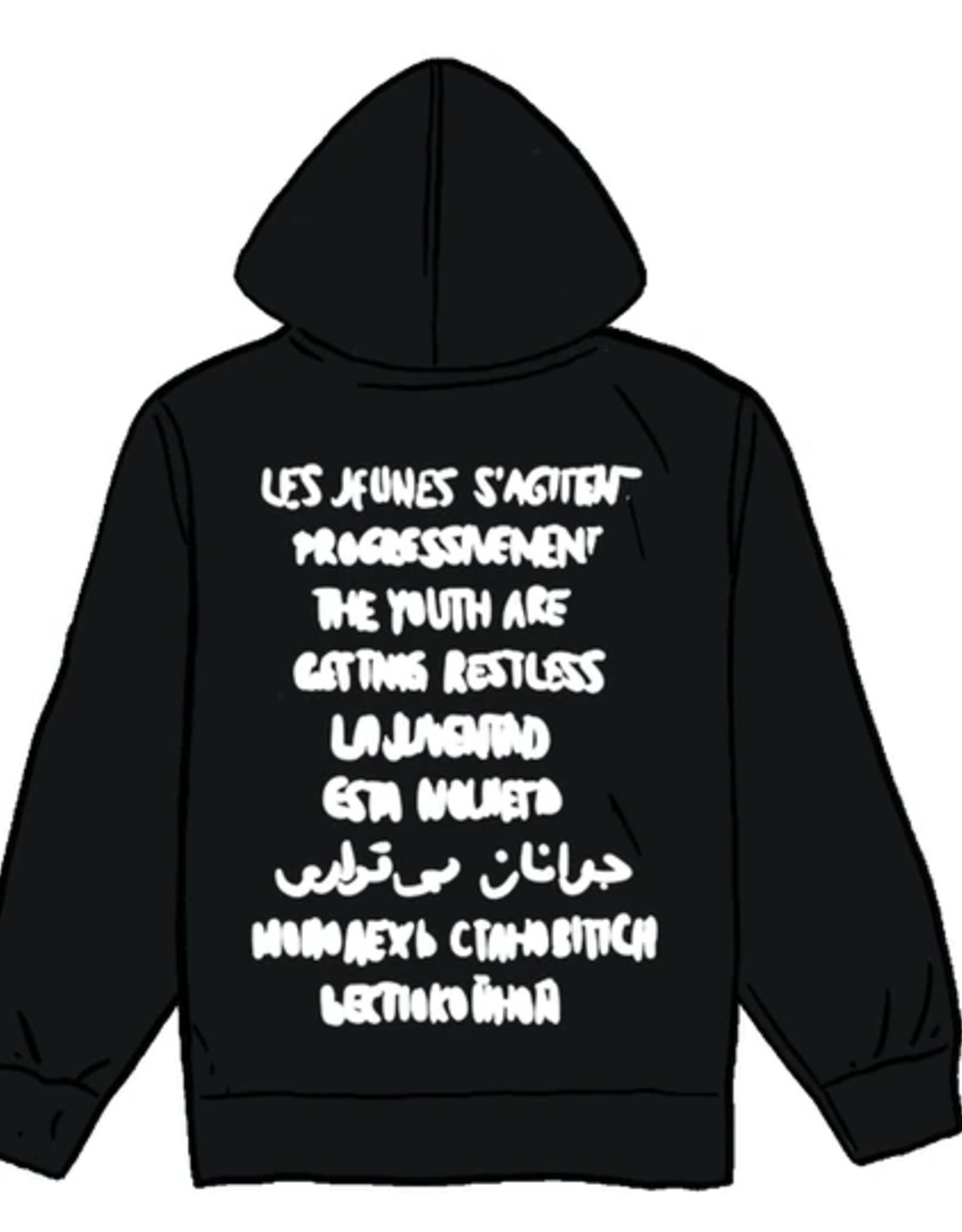 SUPREME Restless Youth Hooded Sweatshirt Black MED