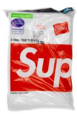 SUPREME Supreme Hanes Tagless Tees (3 Pack) White LG