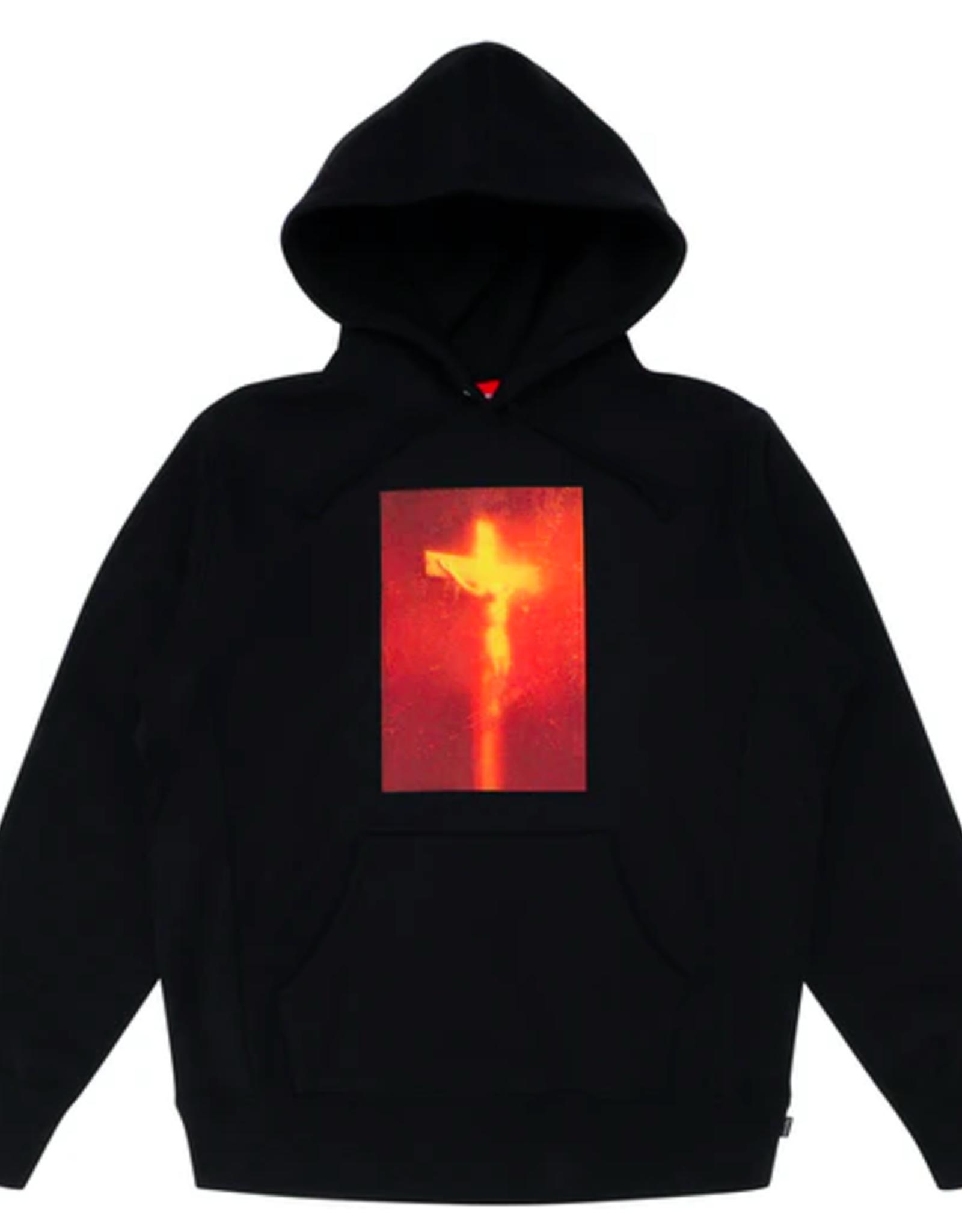 SUPREME Supreme Piss Christ Hooded Sweatshirt Black - Large