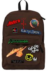 TRAVIS SCOTT Travis Scott Cactus Jack Backpack With Patch Set Brown