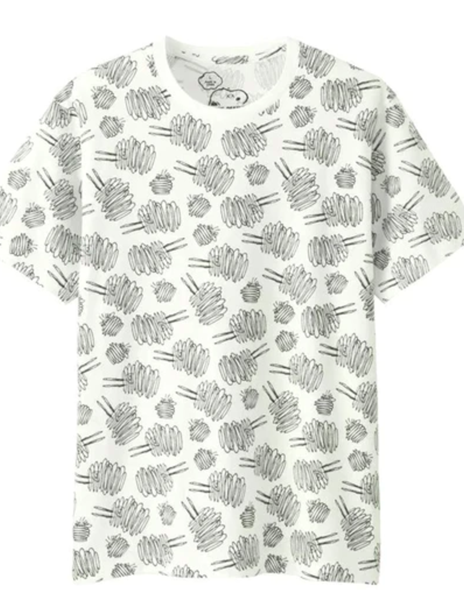 KAWS x Uniqlo x Peanuts Dust Cloud All Over Tee White