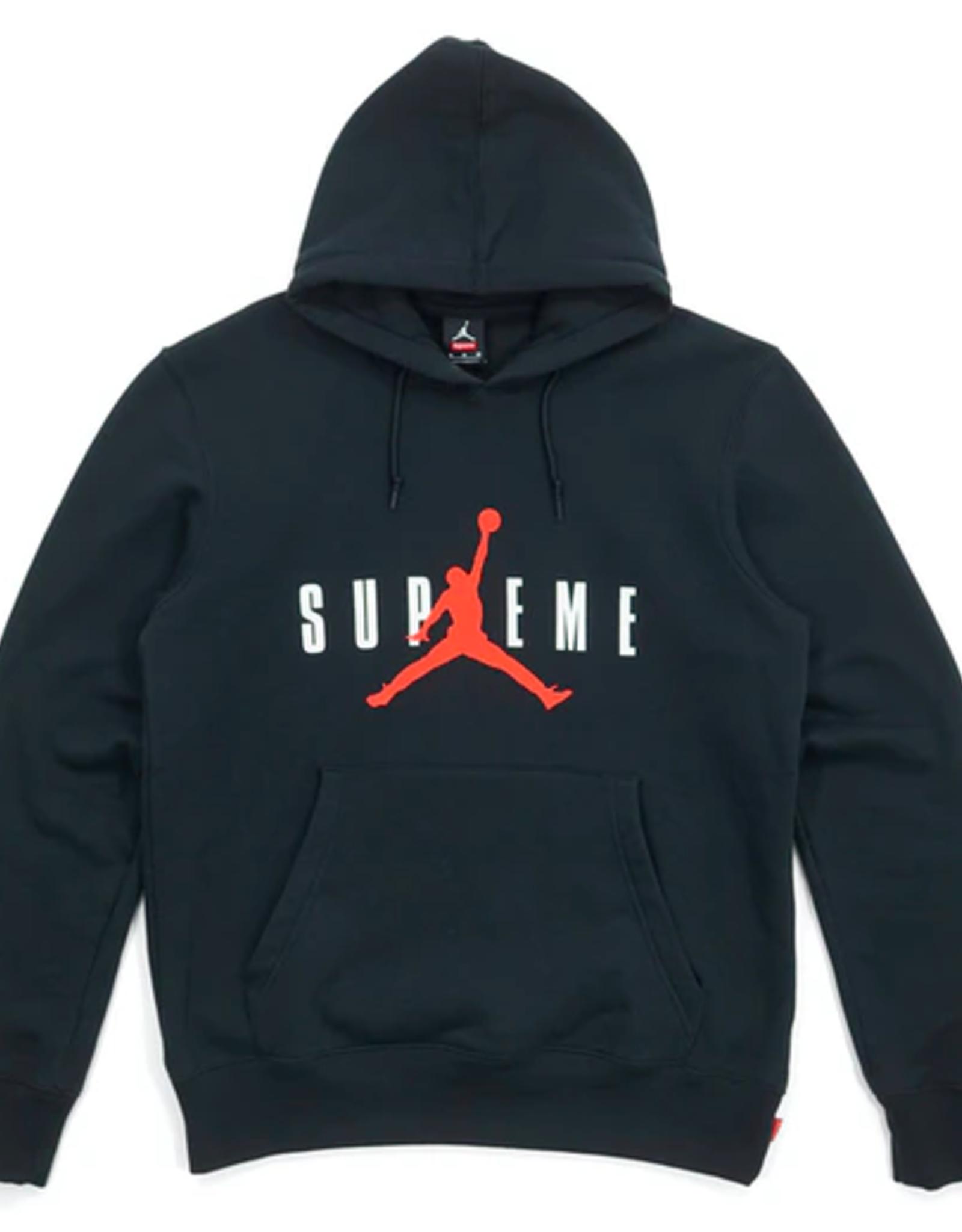 SUPREME Supreme Jordan Hooded Pullover Black LG WORN