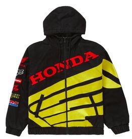 SUPREME Honda Fox Racing Puffy Zip Up Jacket Black WORN MED