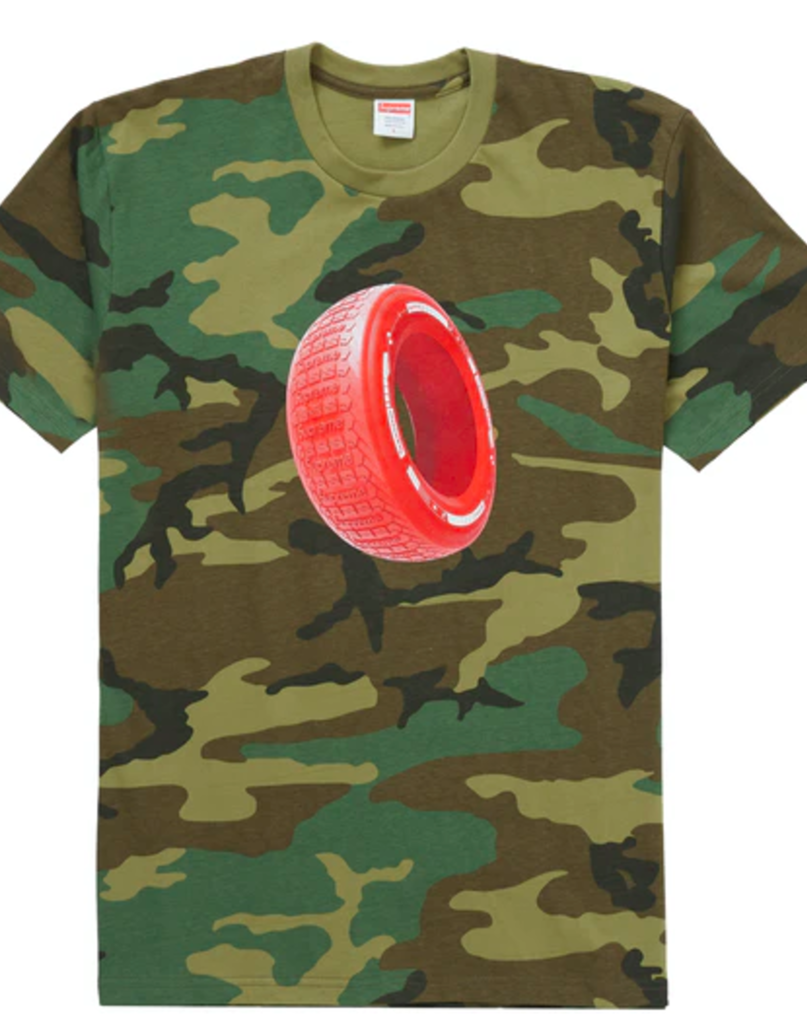 SUPREME Tire Tee Woodland Camo MED