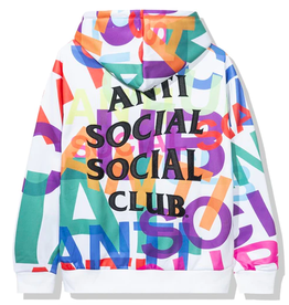 ASSC Anti Social Social Club Headrush All Over Hoodie White