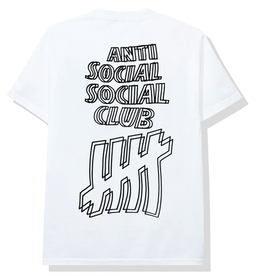 ASSC Anti Social Social Club x Undefeated Tee White