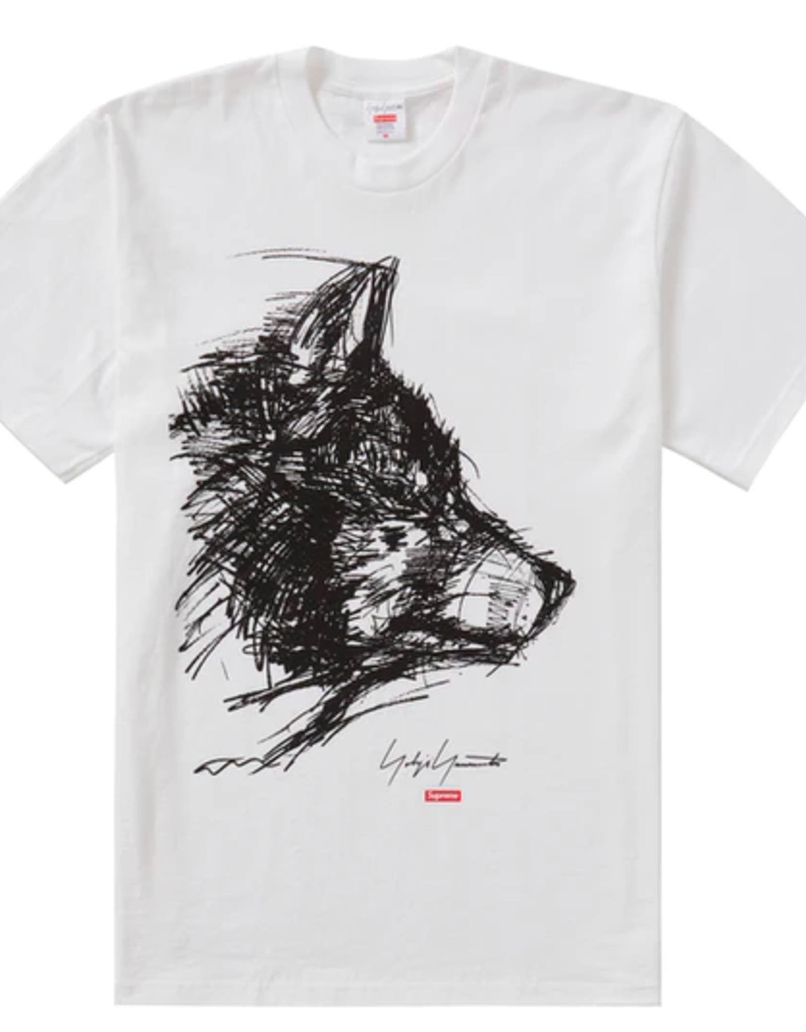 SUPREME Yohji Yamamoto Scribble Wolf Tee White MED