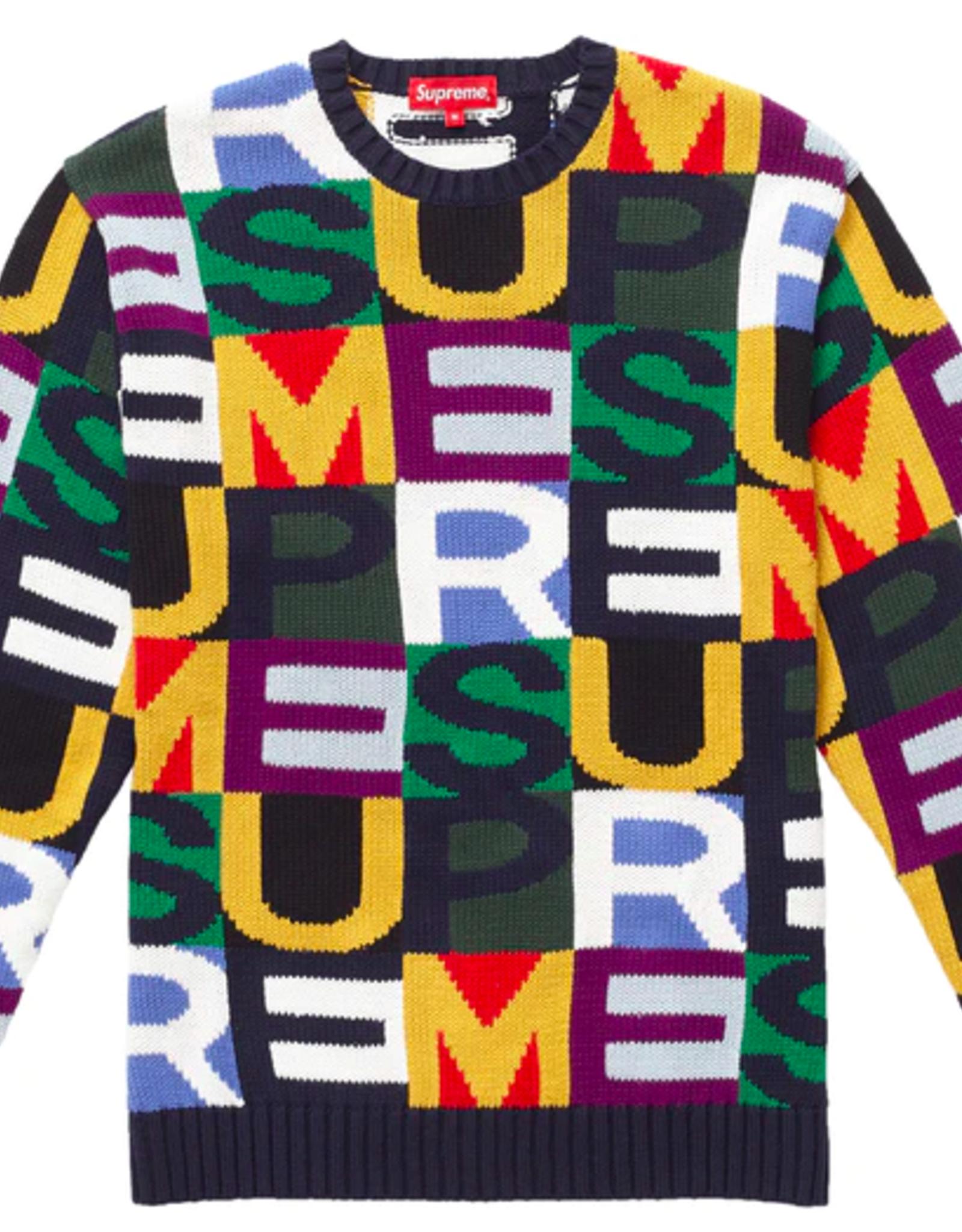 SUPREME Supreme Big Letters Sweater Multicolor - Large