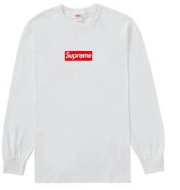 SUPREME Box Logo L/S Tee White MED