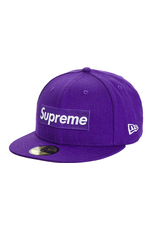 SUPREME Supreme World Famous Box Logo New Era Purple 7 1/8