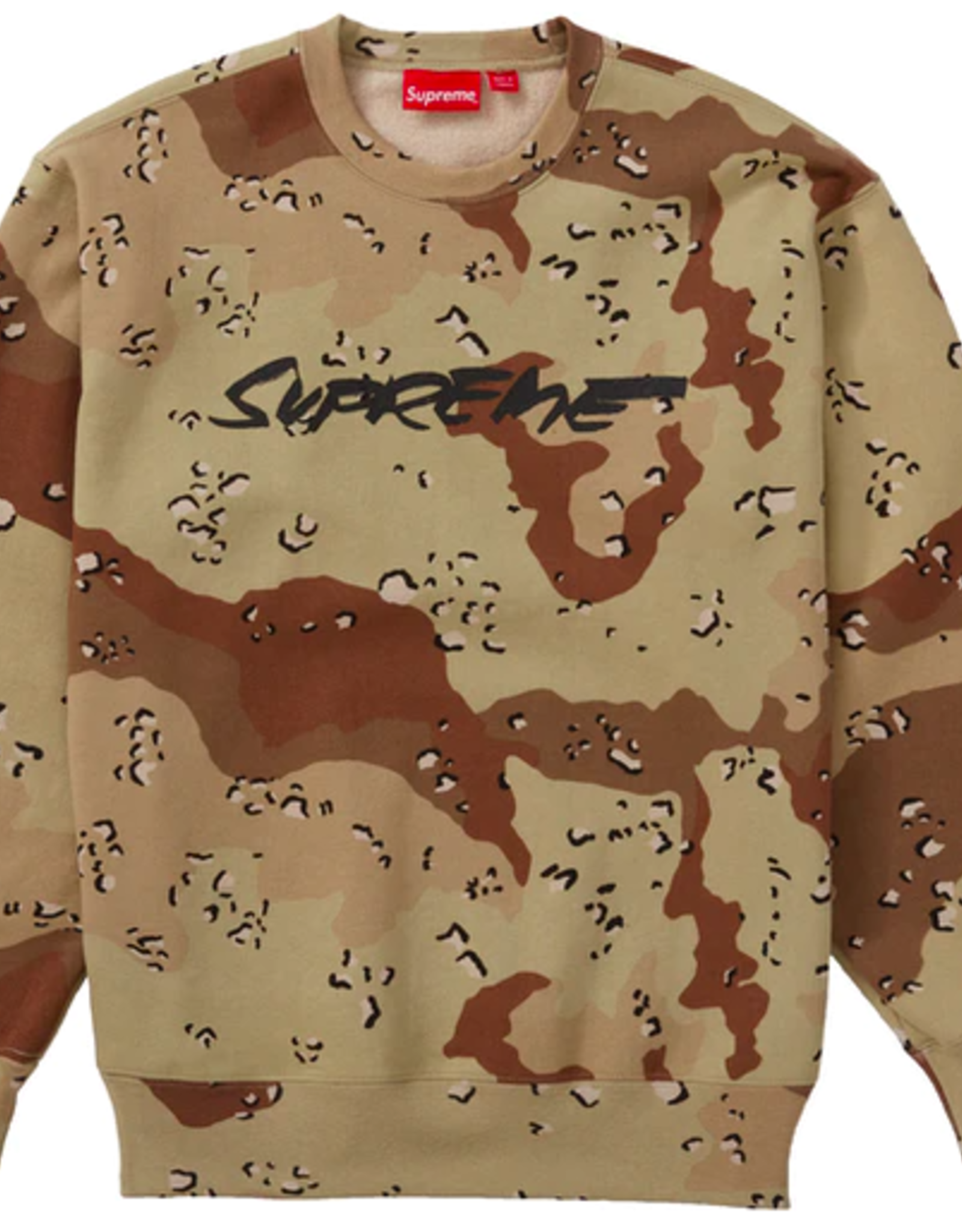 SUPREME Supreme Futura Logo Crewneck Chocolate Chip Camo - Small