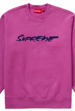 SUPREME Supreme Futura Logo Crewneck Bright Purple - Large