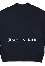 Kanye West Jesus Is King Chicago Painting Crewneck Navy - Large