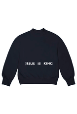 Kanye West Jesus Is King Chicago Painting Crewneck Navy - Large