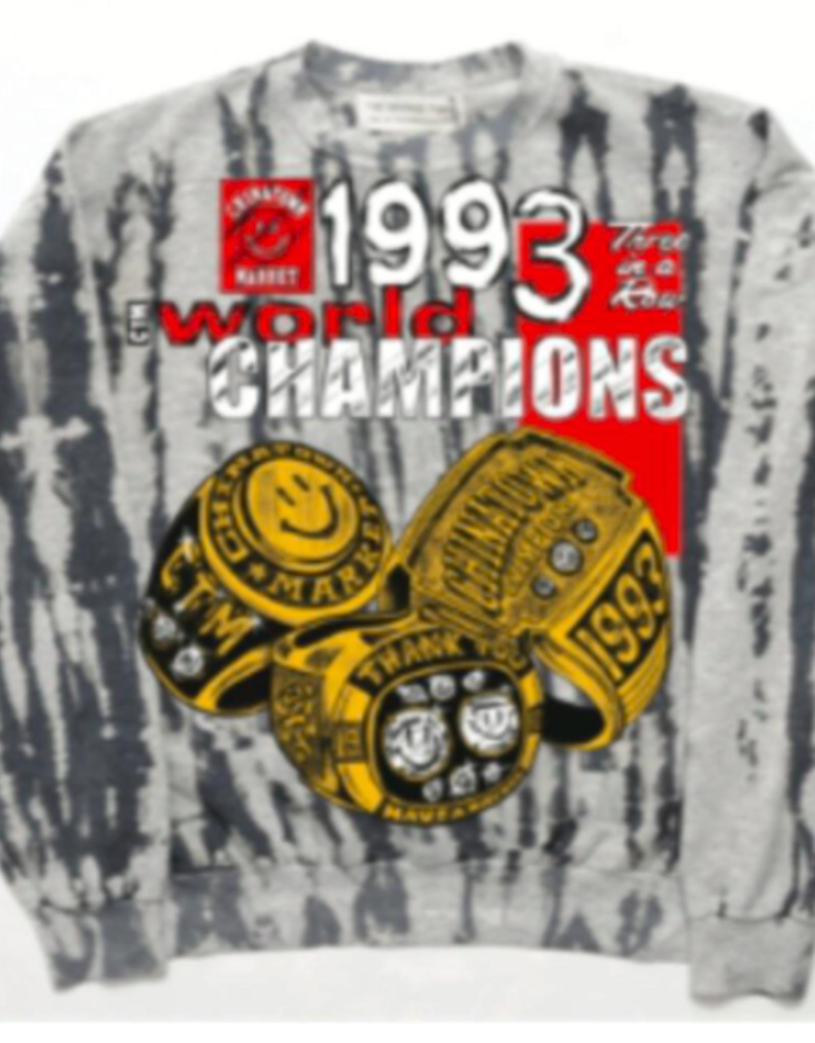 SMILEY CHAMPION 3 RINGS TIE-DYE SWEATSHORTS