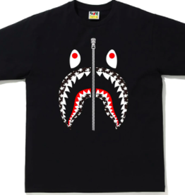 BAPE STA Pattern Shark  Tee Black