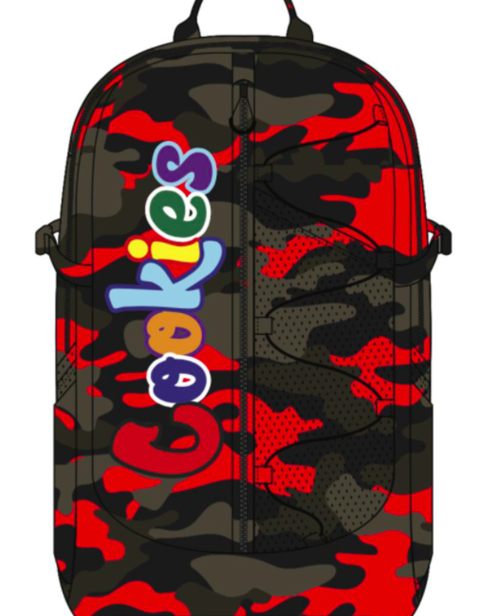 "COOKIES COOKIES SMELL PROOF ""THE BUNGEE"" NYLON BACKPACK W/ CHENIILLE LETTERING"