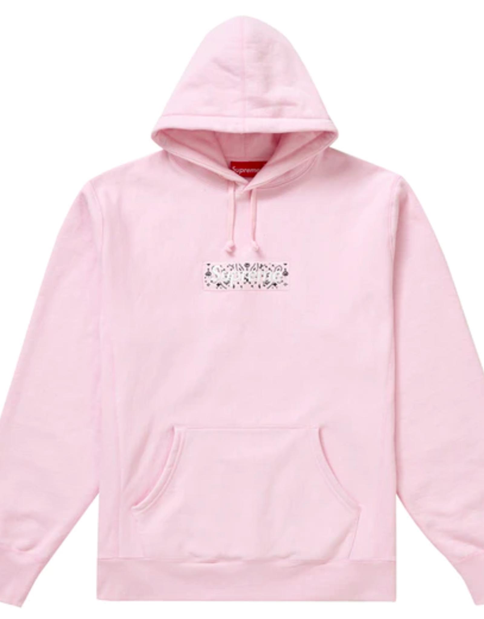 SUPREME Supreme Bandana Box Logo Hooded Sweatshirt Pink - XL