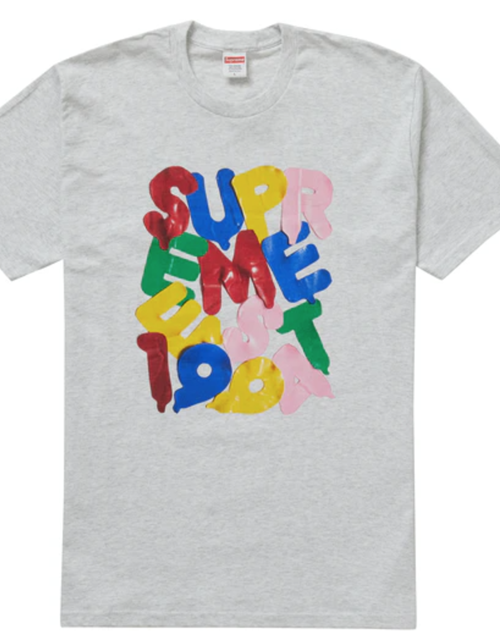 SUPREME Balloons Tee Ash Grey LARGE