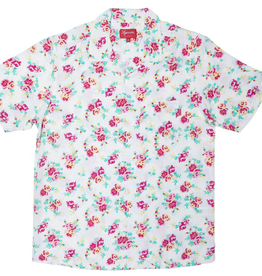 SUPREME Floral Rayon S/S Shirt White SMALL