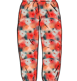 SUPREME Liberty Floral Belted Pant Red LARGE
