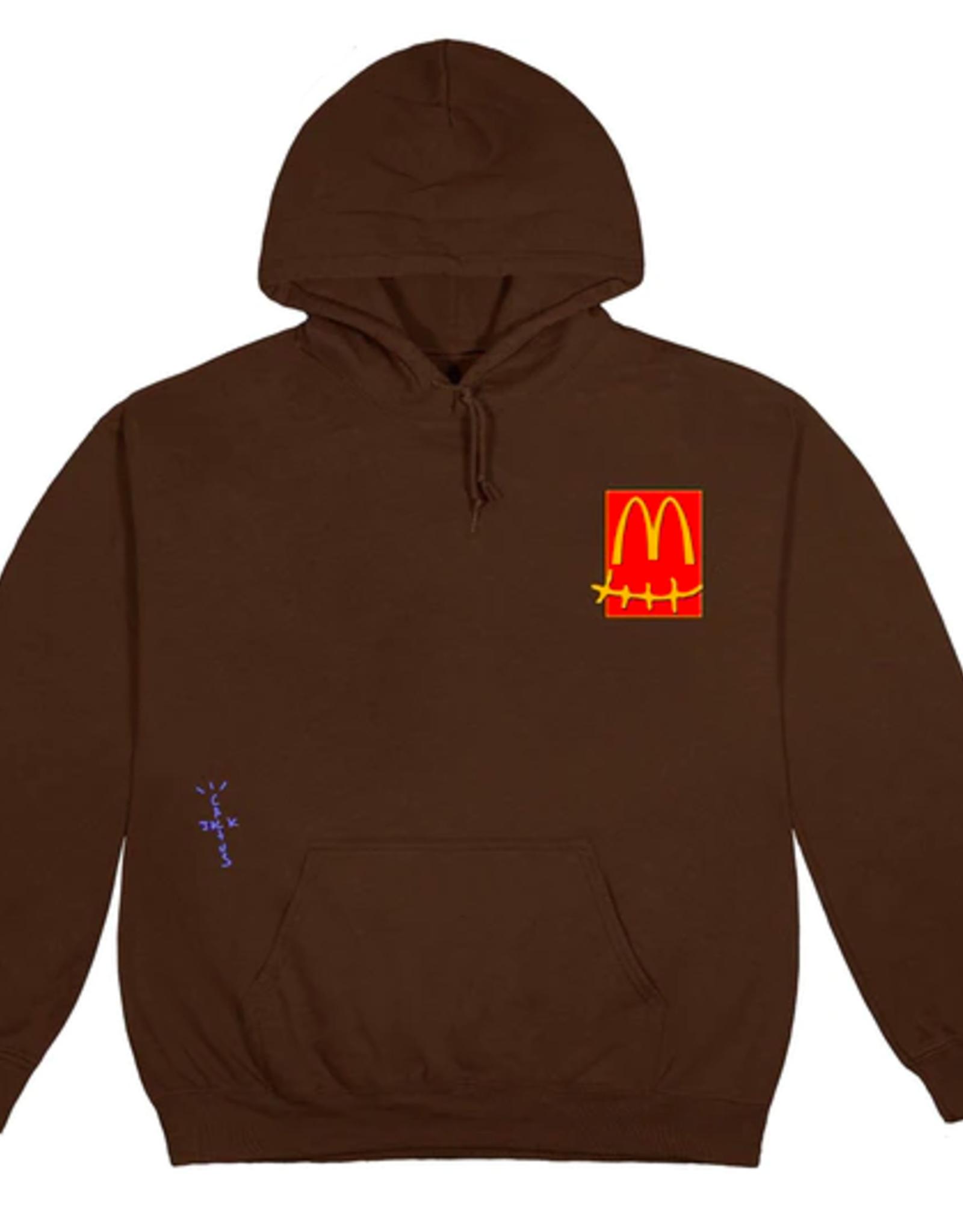 Travis Scott x McDonald's Cactus Pack Sticker Hoodie Brown
