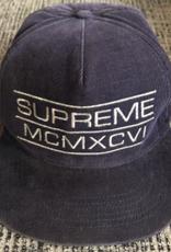SUPREME Supreme MCMXCVI Blue Corduroy SnapBack Hat