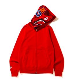 BAPE Shark Full Zip Hoodie Red/Red