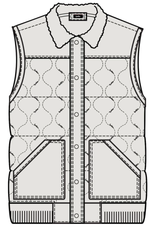 COOKIES SONOMA MATTE FINISH QUILTED TEXTURED NYLON POLY FILL VEST