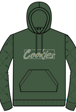 COOKIES SONOMA FLEECE PULLOVER HOODY W/ QUILTED