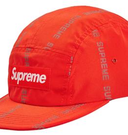 SUPREME Supreme Reflective Text Camp Cap Orange - Worn