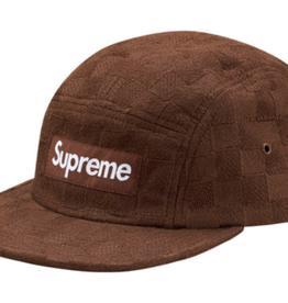 SUPREME Supreme Checker Weave Camp Cap Brown - Worn