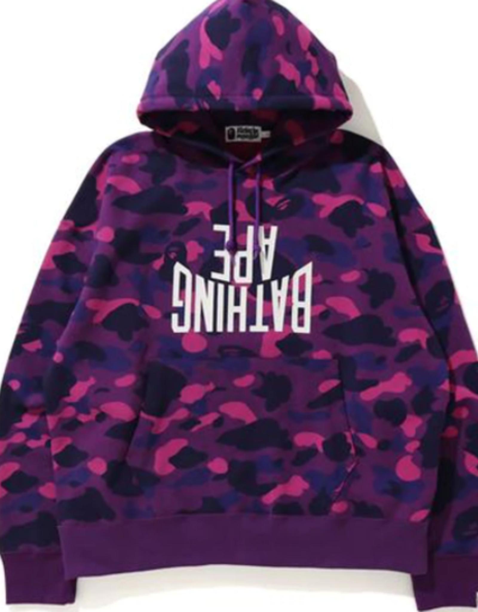 BAPE BAPE Color Camo NYC Logo Loose Fit Pullover Purple - XXL
