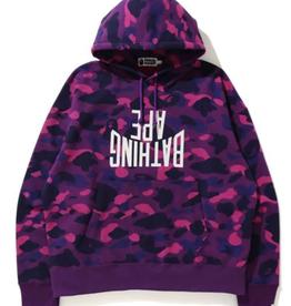 BAPE BAPE Color Camo NYC Logo Loose Fit Pullover Purple- XXL