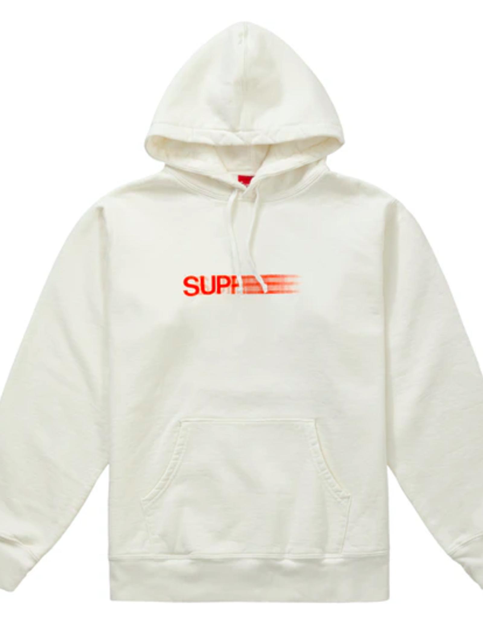 SUPREME Motion Logo Hooded Sweatshirt (SS20) White SMALL