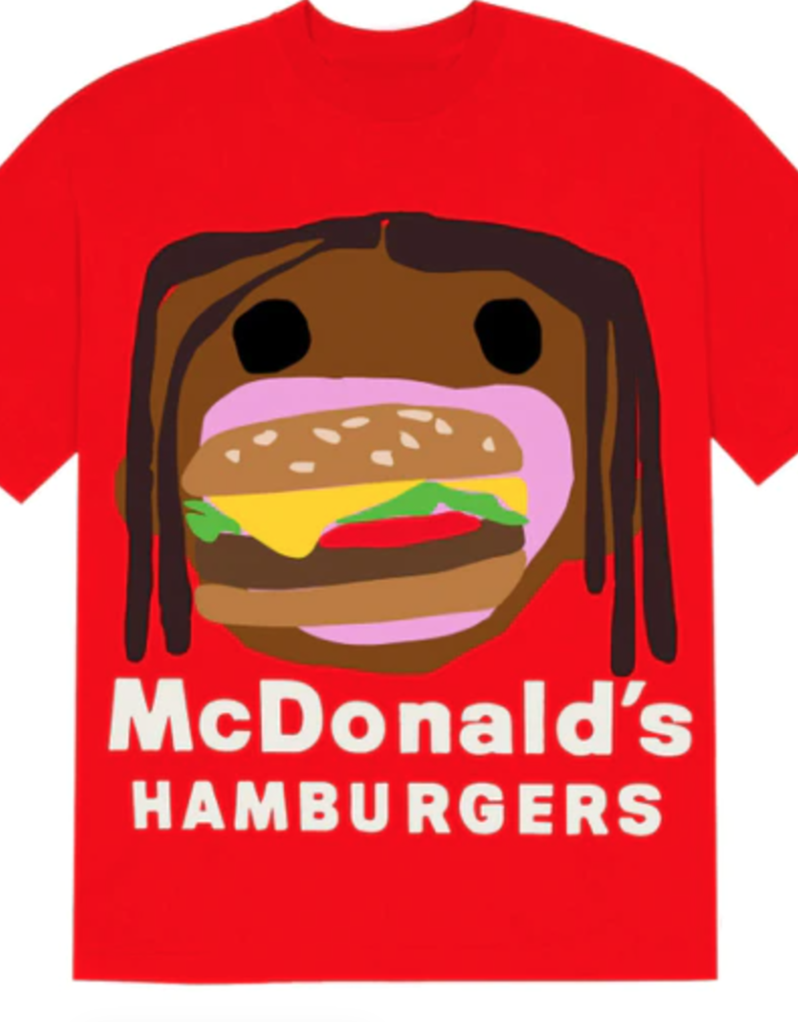 Travis Scott x CPFM 4 CJ Burger Mouth T-Shirt Red - Large