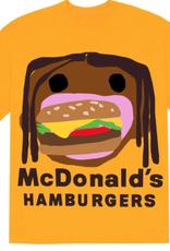 Travis Scott x CPFM 4 CJ Burger Mouth T-Shirt Gold - Large