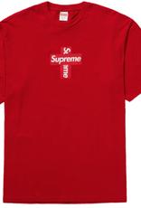 SUPREME Supreme Cross Box Logo Tee Red - Large